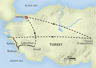 Discover Turkey Private Journey route-map
