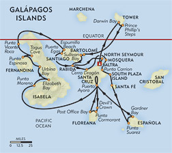 Ultimate Galapagos route-map