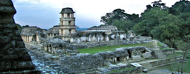 Temple ruins at Palenque, Mexico