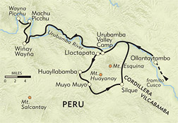 Hidden Inca Trail Private Journey route-map