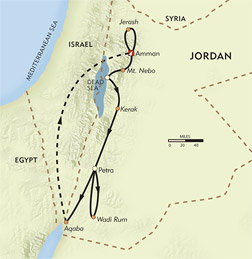 Jordan Explorer Private Journey route-map